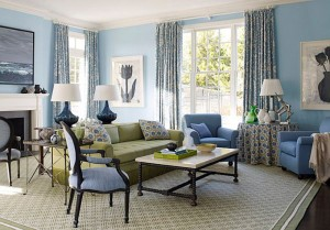 French-Style-living-room-with-Blue-Color